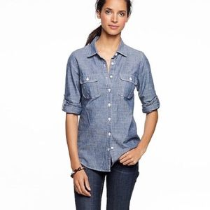 "J. CREW ""The Perfect Shirt"" Lightweight Cotton Top"